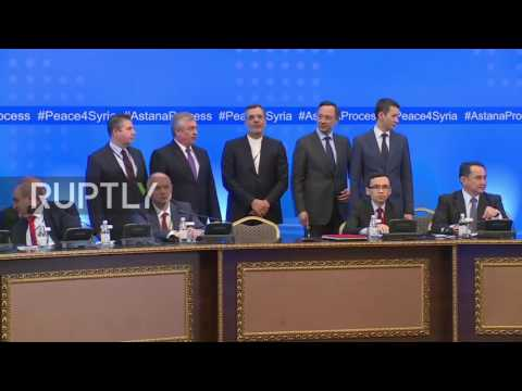 Kazakhstan: FSA delegate angrily interrupts Syria peace talks, gets escorted from hall