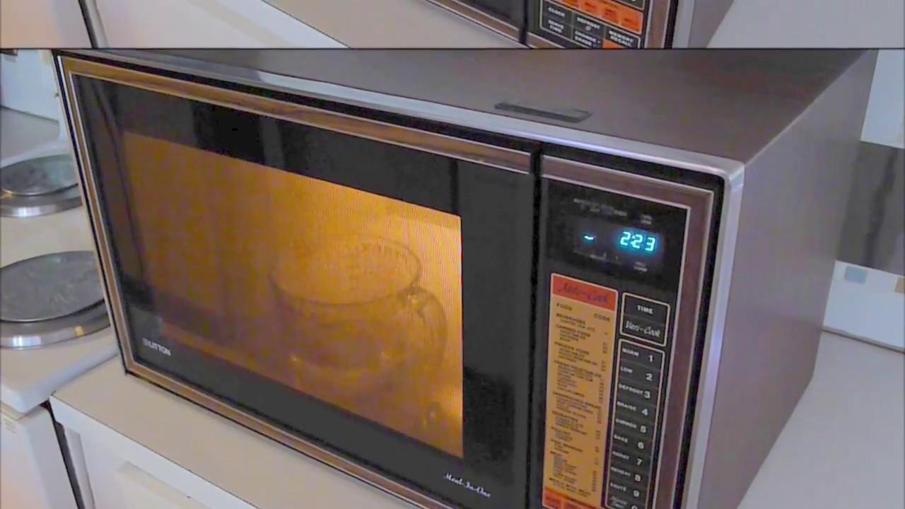 1981 litton meal in one microwave radar range