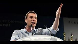 Jordan Bardella, tête de liste Rassemblement national aux élections européennes