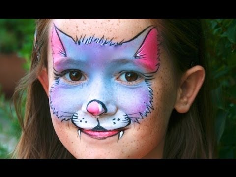 c44975c7a Kitty Cat face painting tutorial - Easy Cat makeup - YouTube