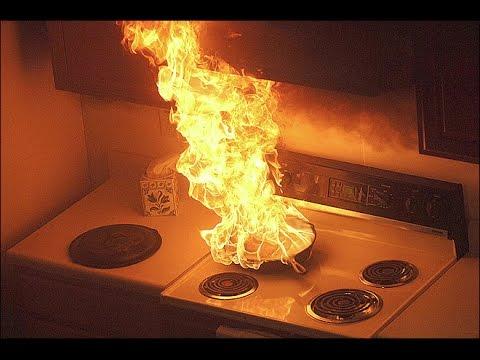 oil kitchen fire accident, Kitchen