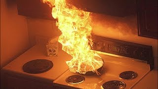 It takes just minutes for an unattended pot of oil left on the stove to catch fire. a grease fire happens when your cooking becomes too hot. heating...