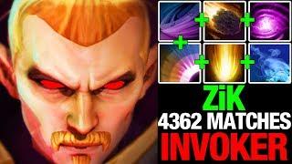 ZiK 4362 MATCHES INVOKER! BRUTAL AND INSANE INVOKER PLAYS - DOTA 2 GAMEPLAY