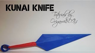 Origami & DIY : 3D Kunai Knife | Tutorial for beginners!
