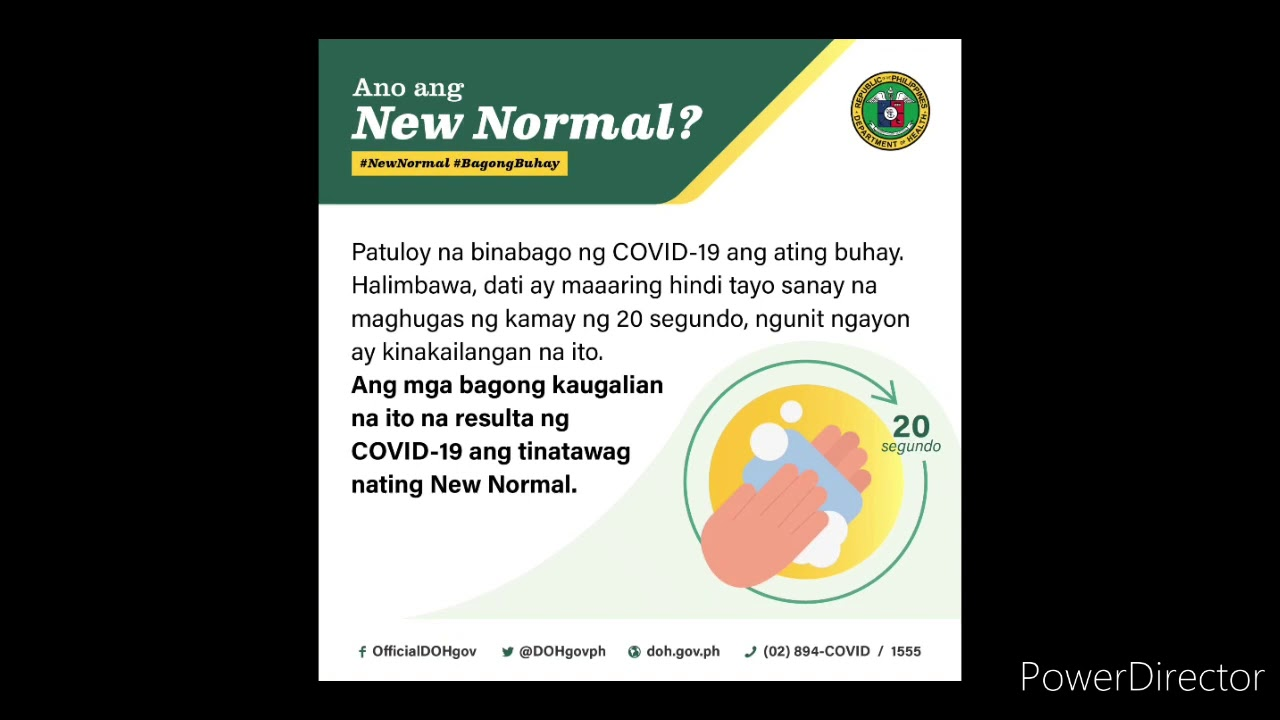 A Time To Share The New Normal Doh Ph Covid 19 Youtube