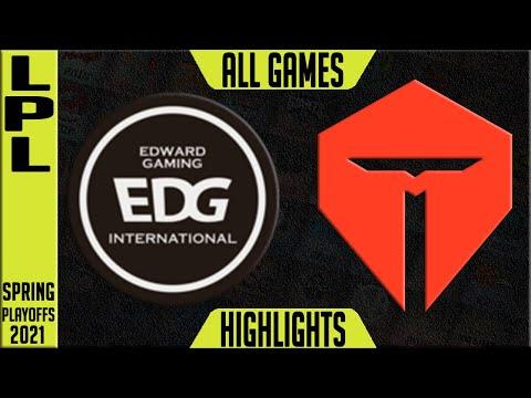 EDG vs TES Highlights ALL GAMES | LPL Playoffs Spring 2021 Round 4 | Edward Gaming vs Top Esports