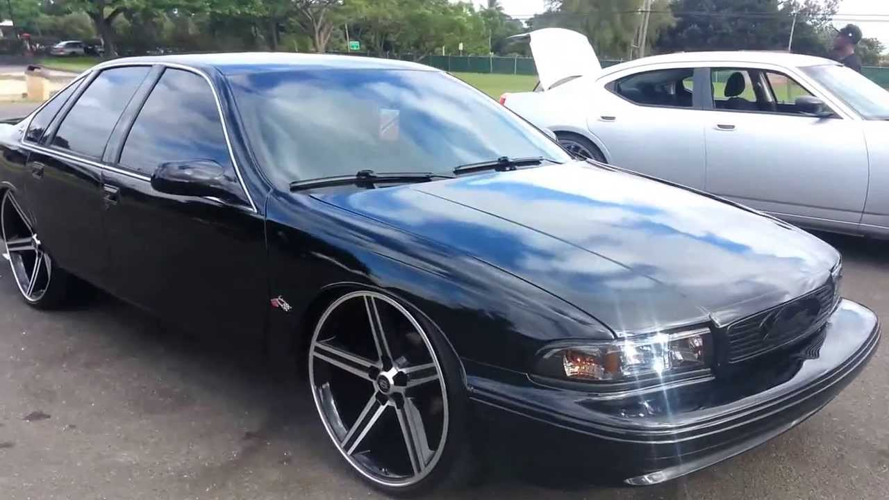 Impala Ss On 24 S And Dodge Charger On 26 S Youtube