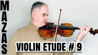 J.F. Mazas Violin Etude no. 9 - March