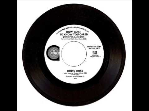 Doris Duke - How Was I To Know You Cared