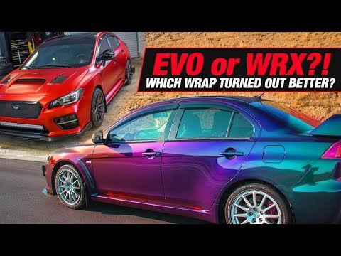 Vinyl Wrapping EVO & WRX!!! | Hat GIVEAWAY! | SHOP VLOG