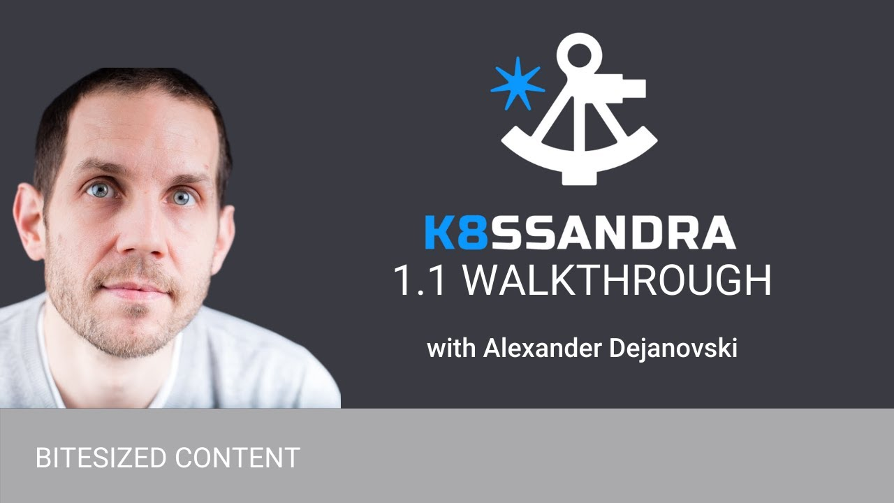 K8ssandra 1.1 Walkthrough Featuring MinIO Backup