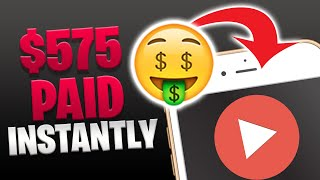 Earn $575 PER DAY WATCHING YOUTUBE VIDEOS *FREE* [Make Money Online]