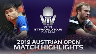 Александр Шибаев vs Zhou Yu | Austrian Open 2019 (Pre)