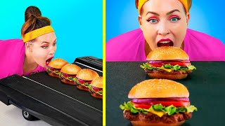 Making Giant Food / Funny Food Hacks / Food Challenge Ideas / Ways to Sneak Snacks Anywhere