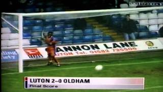 Luton Town 2-0 Oldham Athletic Lge Gray Scarlett 17th Oct 1998.AVI