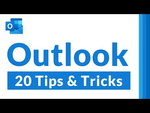 Top 20 Microsoft Outlook Tips and Tricks [2021]  All the Outlook features you didn't know about!