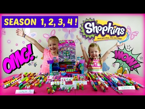 SHOPKINS SEASON 1 2 3 4 - BABY ALIVE GOES SHOPPING FOR SHOPKINS !