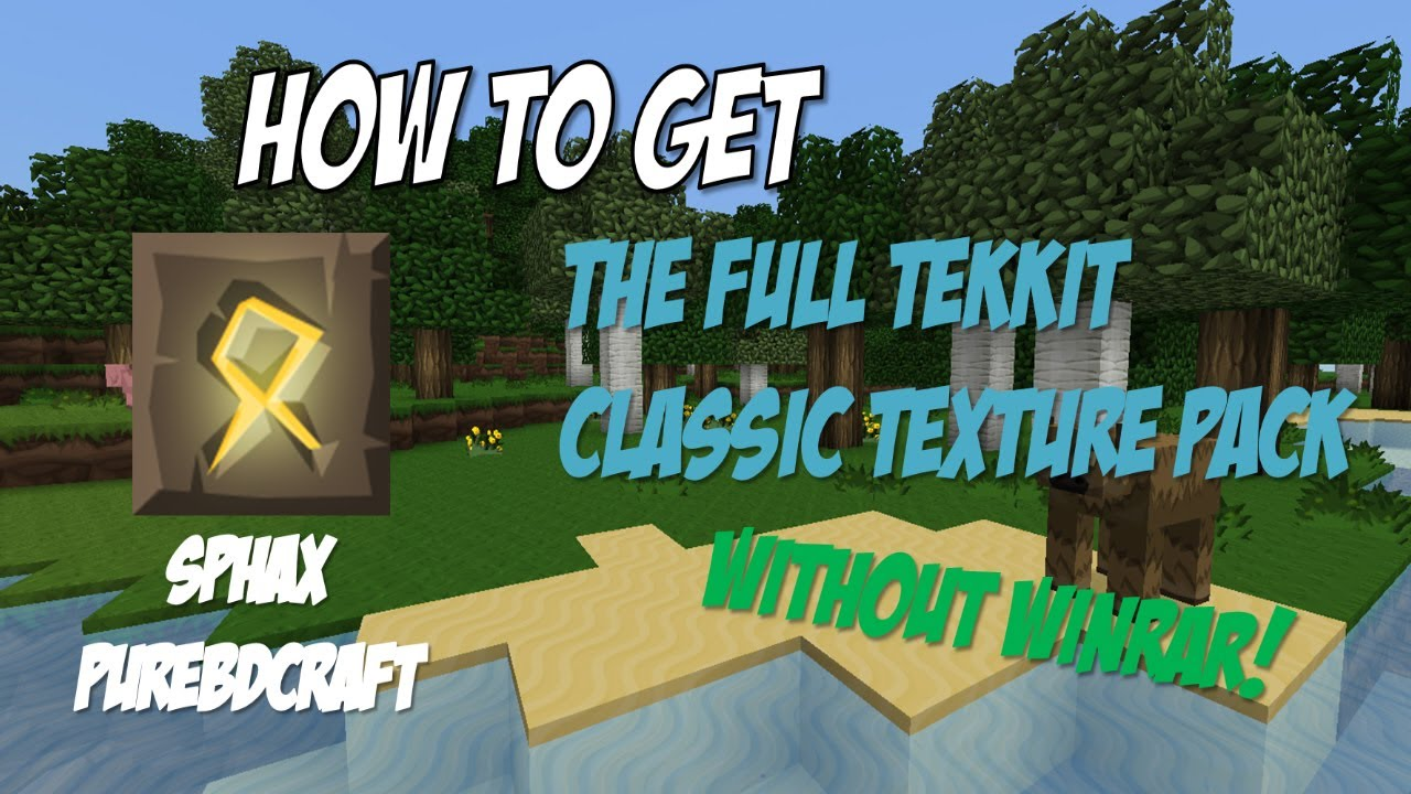 How To Get The Full Sphax Texture Pack For Tekkit Classic