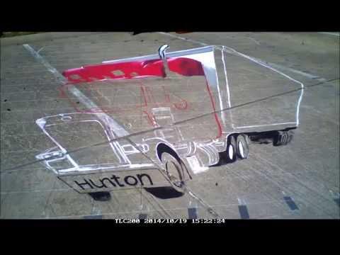 Truck 3D street painting