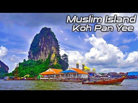 Muslim Island Near Phuket Thailand – Koh Pan Yee Or Muslim Island- James Bond Island Tour, Phuket