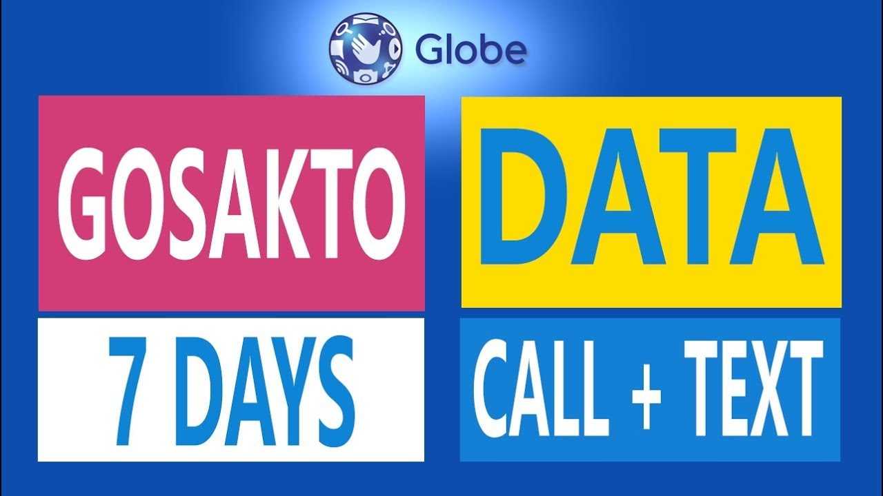 How to Register Globe Gosakto 70, 90, 120 &140 - Unli texts, internet and  call promo for 7 Days