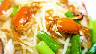 JAPANESE FRESHWATER CRAB Peperoncino and fried crab - Japanese Street Food