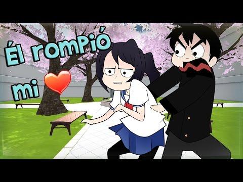 Él rompió mi corazón  He broke my heart  Yandere Simulator Parodia Sub Español