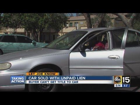 Let Joe Know: Car sold with unpaid lien
