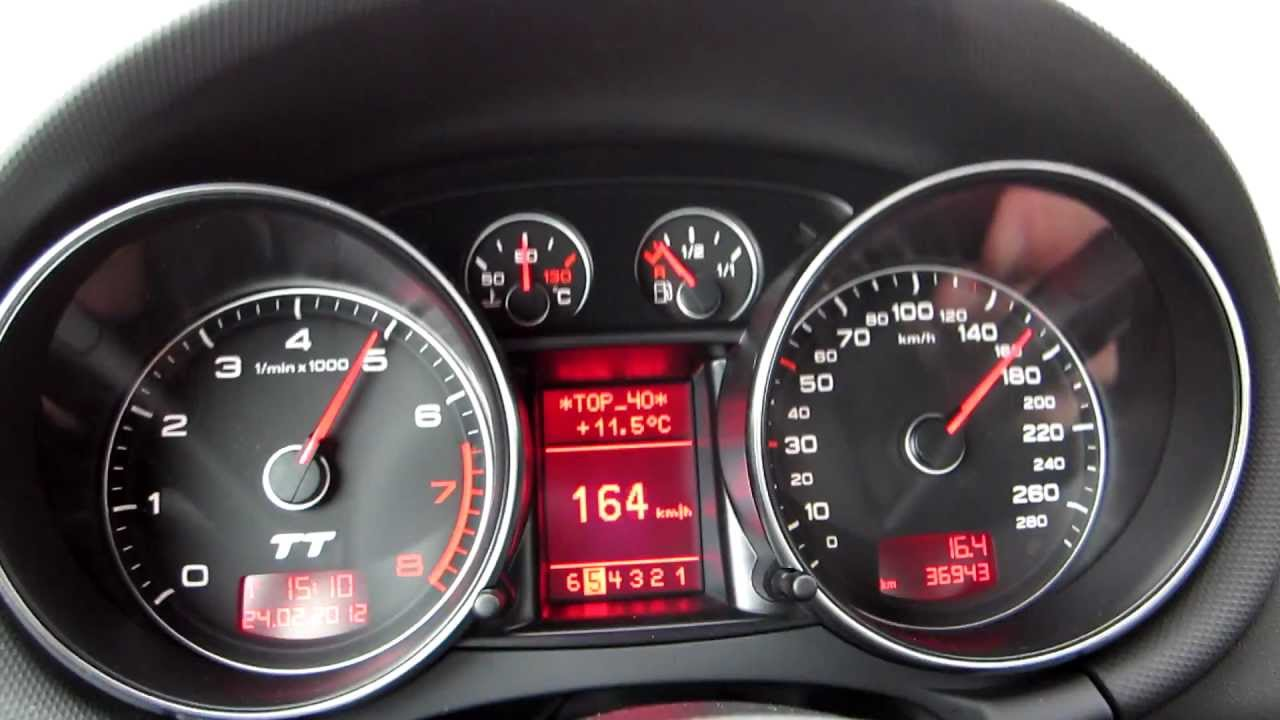 Audi TT 3.2 V6 on german Autobahn - YouTube