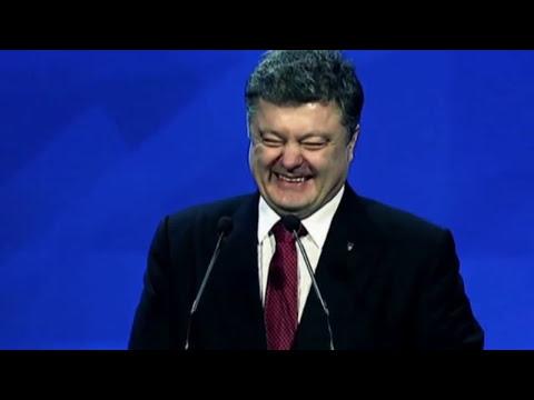 Народ кричит Порошенко: 'Тварь, когда же ты нажрешься!'