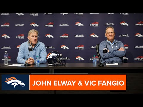 John Elway And Vic Fangio Meet The Media At End-of-season Press Conference