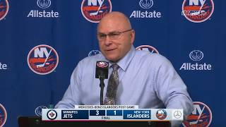 Barry Trotz: Good Teams Make You Pay for Mistakes   New York Islanders Post Game