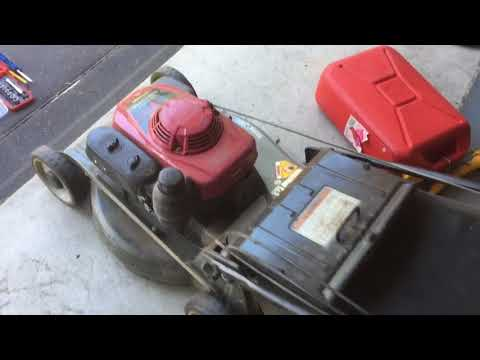 Honda Mower HRU216 Tune Up Revs