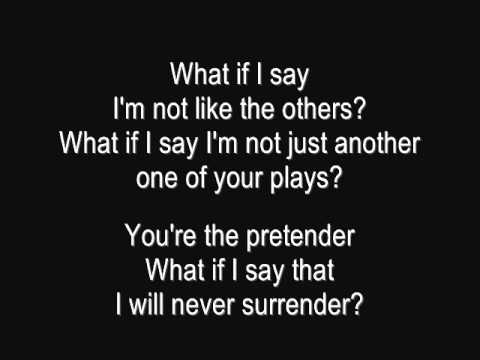 Foo Fighters - The Pretender (Full Song with Lyrics) - YouTube