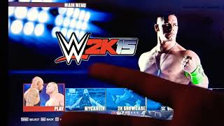 WWE 2K15 PC GAMEPLAY BROCK LESNAR VS ROMAN REIGNS (MEDIUM SETTINGS)
