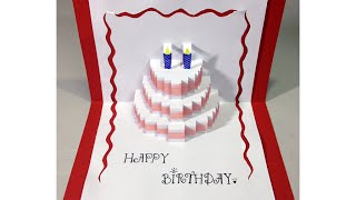 Happy Birthday Cake - Pop-Up Card Tutorial