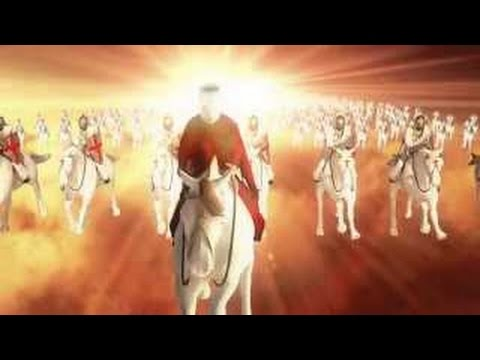 Jesus The Son of God Coming in the Clouds with Great Power & Glory with The Heavenly Army