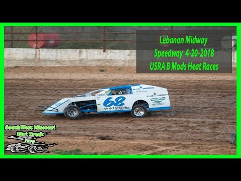 USRA B Mods Heat Races - Lebanon Midway Speedway 4-20-2018 S&S U Pull It
