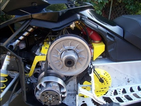 how to clean snowmobile clutch