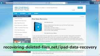 iPad Data Recovery ANYONE Can Use |iPad|iPad 2|iPad 3|iPad 4|iPad Mini|iPad Air|iPad Pro