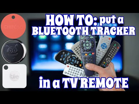 Install a TRACKER in your TV REMOTE