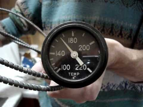 hqdefault stewart warner temperature gauge mpg youtube stewart warner water temp gauge wiring diagram at fashall.co
