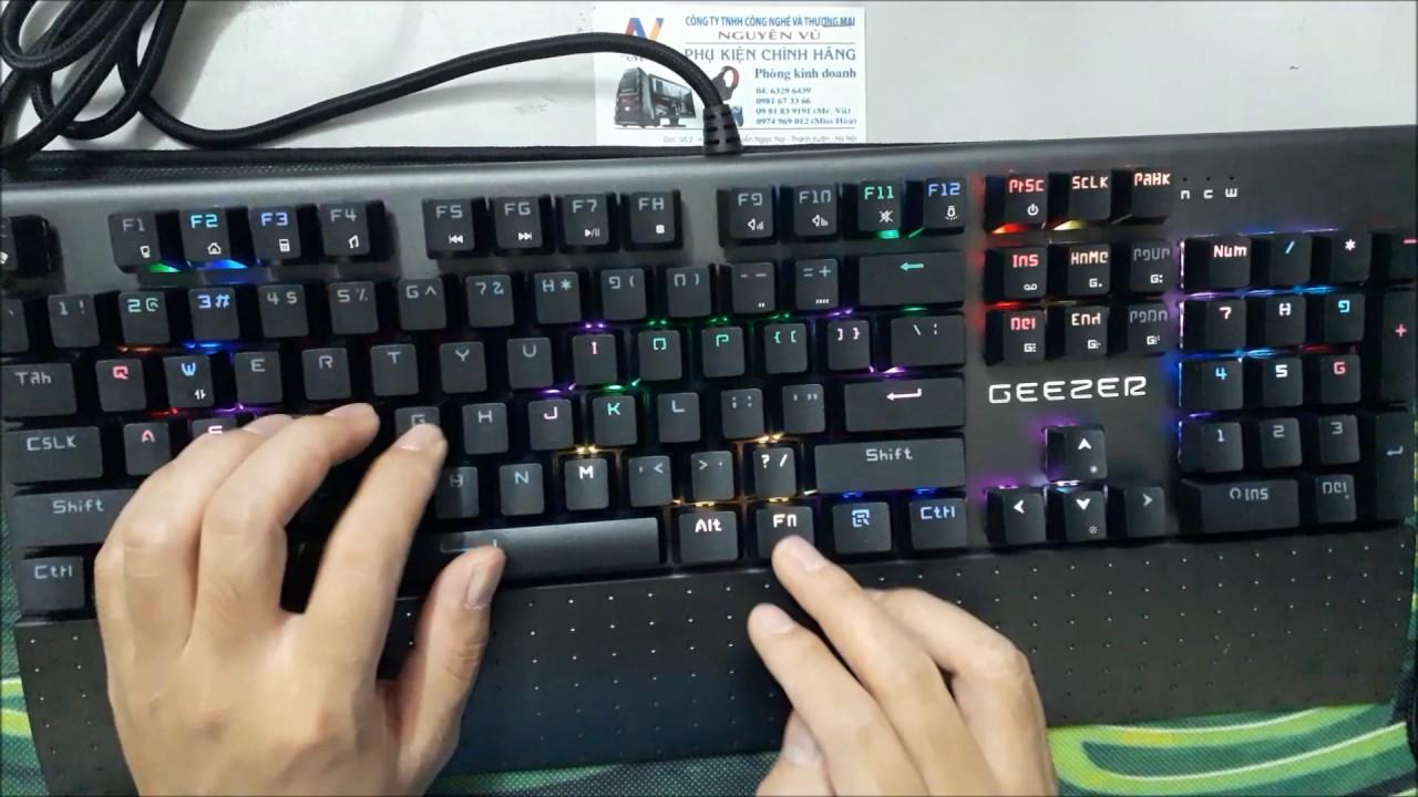 Review bàn phím cơ Geezer GS2 phiên bản màu đen có kê tay giá sốc 940k