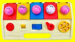Peppa Pig Pop Up Balls Toys Surprises! Preschool Colors Numbers for Kids Toddlers