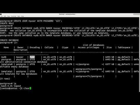 Как создать пользователя в postgresql