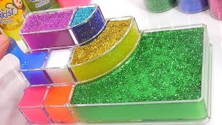 Combine Glitter Slime Case All Colors Water Clay Simple DIY Showcase Learn Colors Slime Toys