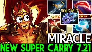 Miracle- [Monkey King] New Super Carry Meta 7.21 What a Game Dota 2