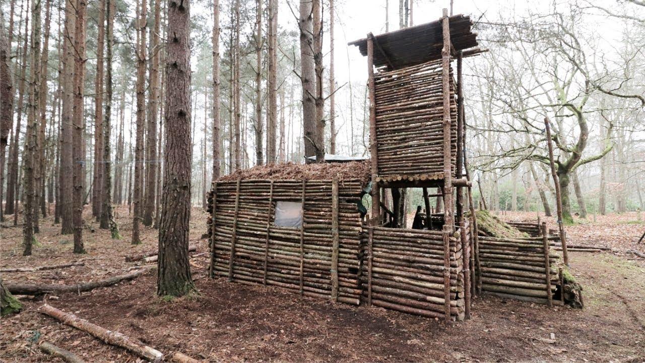 Bushcraft Camp Update 13 Primitive Shelter Fire Pit