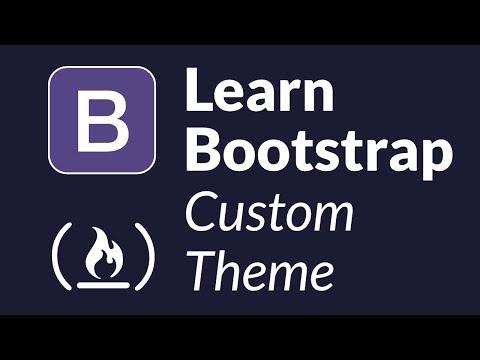 Learn Bootstrap by creating a custom admin theme - Intermediate Tutorial thumbnail