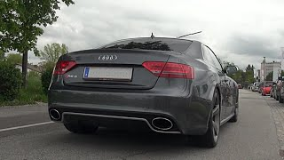 Audi RS5 Capristo exhaust onboard ride & LOUD revs & acceleration!
